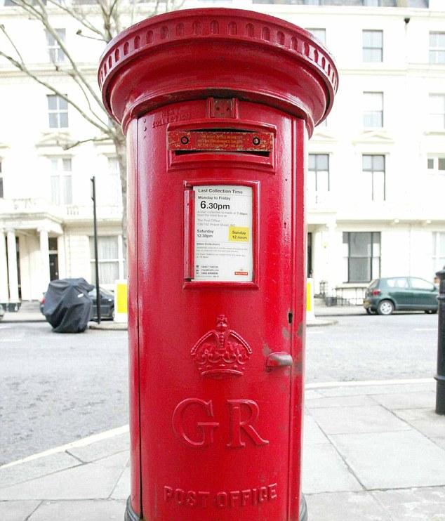 İngilizlerin meşhur kırmızı posta kutuları...