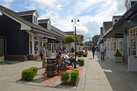Bicester Village Outlet Shopping Centre, Bicester, Oxfordshire, England, United Kingdom. Image shot 2012. Exact date unknown....CTXCXE Bicester Village Outlet Shopping Centre, Bicester, Oxfordshire, England, United Kingdom. Image shot 2012. Exact date unknown.