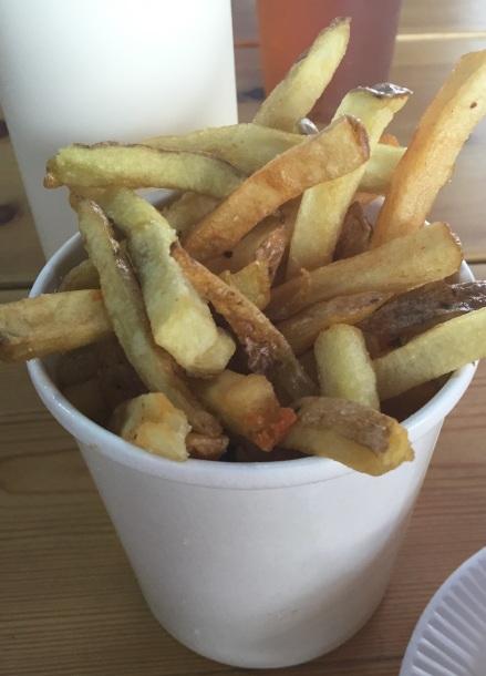 Patates kızartması da lezzetli... (Fotoğraf: Filiz Taylan Yüzak)