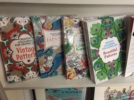 Drink, Shop and Do'da satılan yetişkinler için boyama kitapları... (Fotoğraf: Filiz Taylan Yüzak)